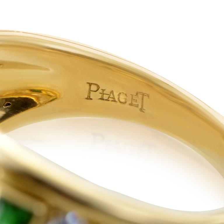 Piaget Precious Gemstone Diamond Gold Band Ring For Sale 1