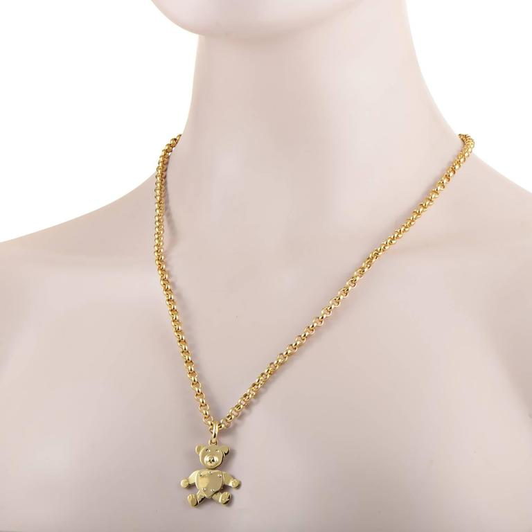 Pomellato gold teddy bear pendant necklace for sale at 1stdibs gracing the ever appealing motif of a teddy bear with sheer luxurious allure of radiant pomellato gold teddy bear pendant necklace in mozeypictures Choice Image