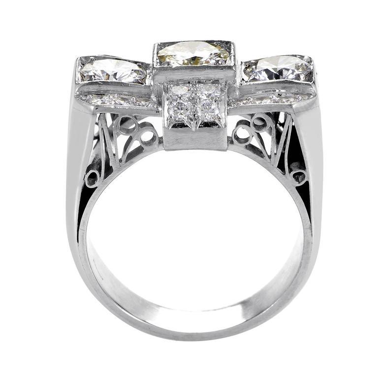 platinum bow ring at 1stdibs