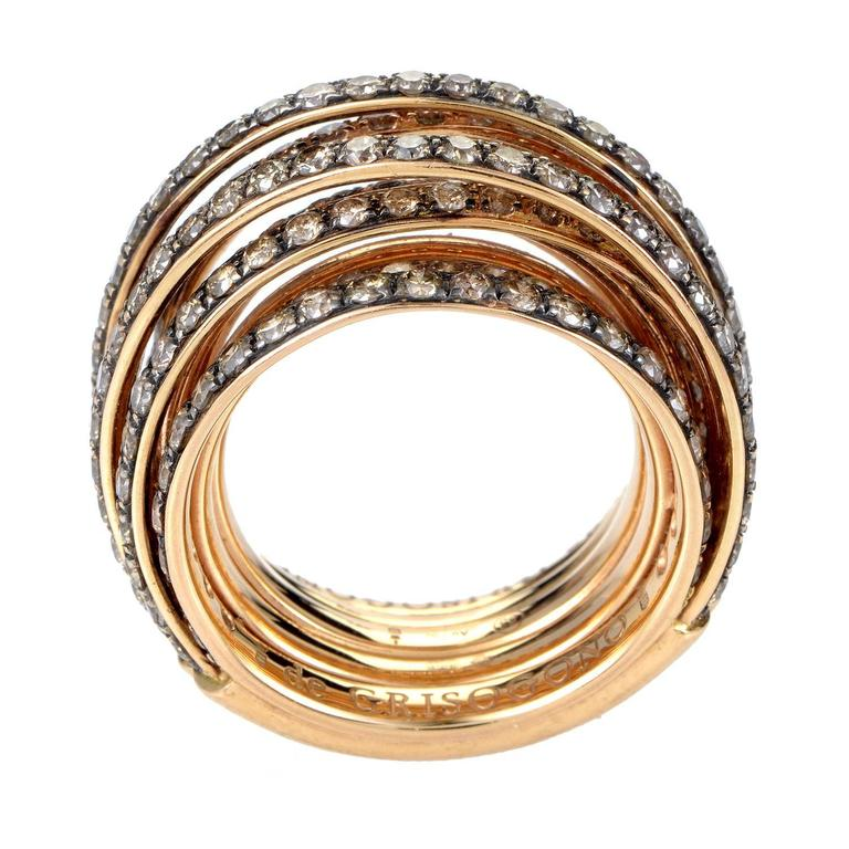 14k Rose Gold 1 06ctw Pink And White Diamond Band Ring