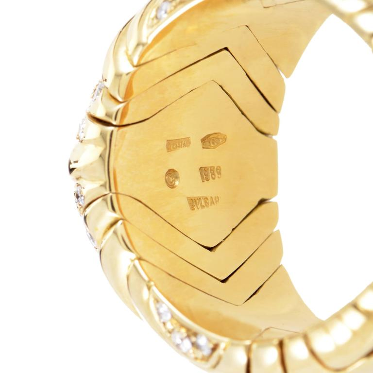 Bulgari Alveare Diamond Yellow Gold Band Ring For Sale 1