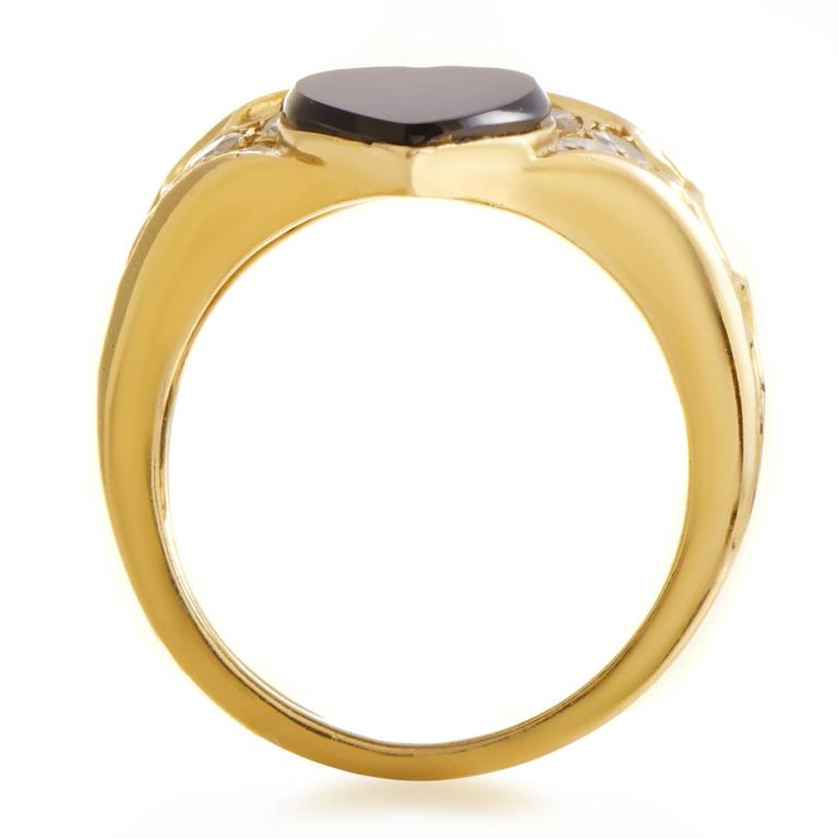 Van Cleef & Arpels Diamond Gold Band Ring In Excellent Condition For Sale In Southhampton, PA