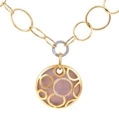 Modern Fabergé Multi-Tone Gold Diamond and Enamel Pendant Necklace