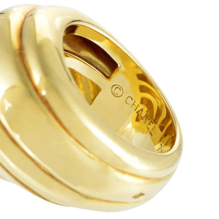 Chanel Yellow Gold Seashell Ring For Sale At 1stdibs