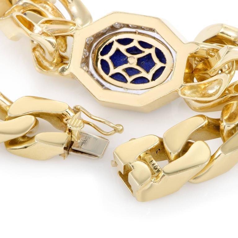 Diamond and Lapis Lazuli Yellow and White Gold Choker Necklace 4
