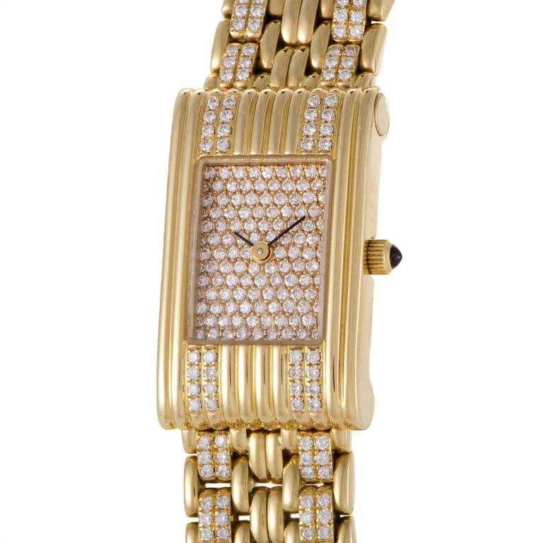 Boucheron Ladies Yellow Gold Diamond Les Montres Wristwatch 2