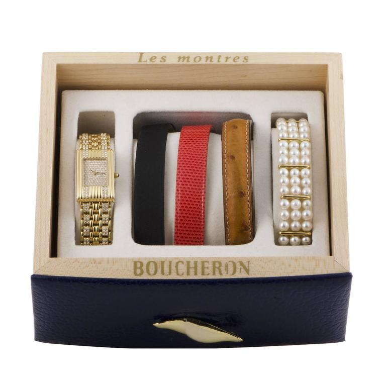 Boucheron Ladies Yellow Gold Diamond Les Montres Wristwatch 4