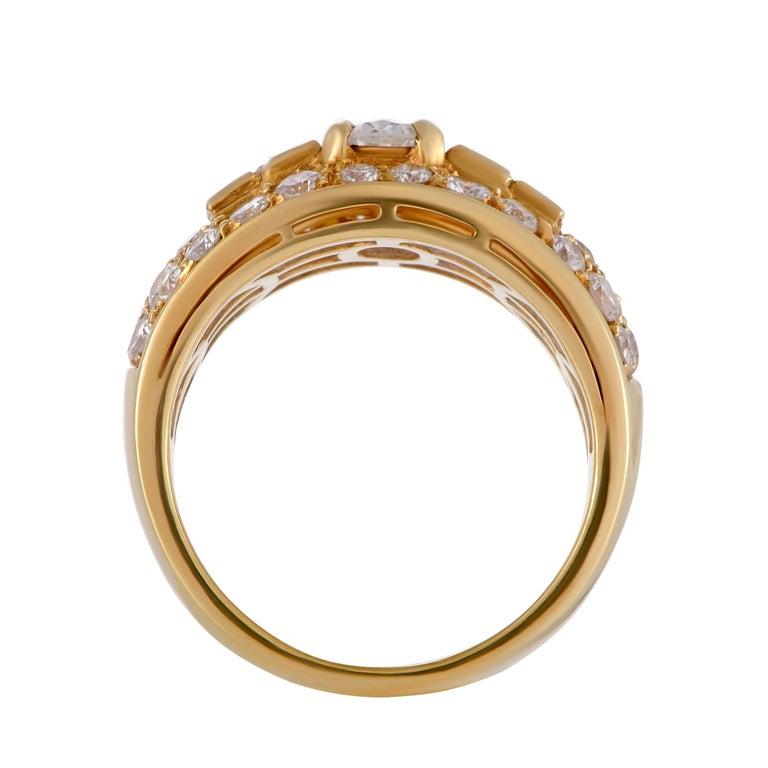 Bulgari Diamond and Yellow Gold Band Ring 2