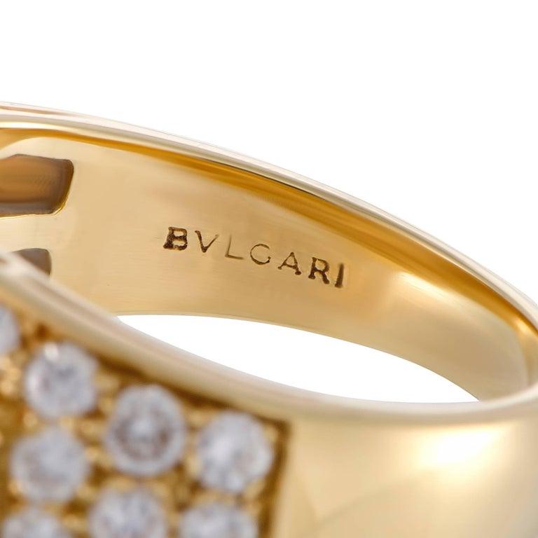 Bulgari Diamond and Yellow Gold Band Ring For Sale 1