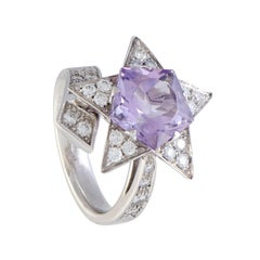 Chanel Comete Diamond and Amethyst White Gold Ring