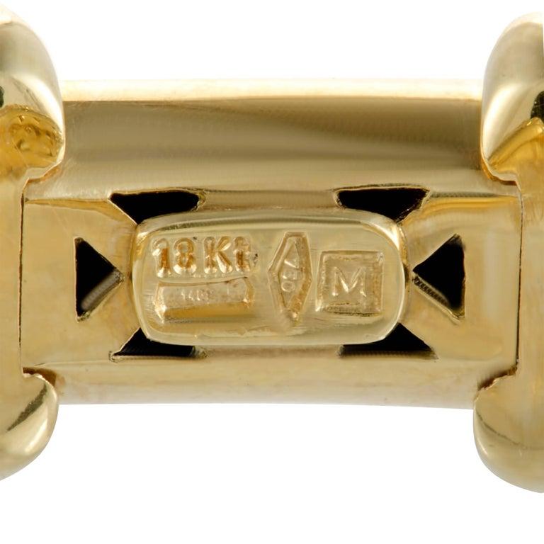 Women's Mikimoto Diamond and Yellow Sapphire Yellow Gold Open Bangle Bracelet For Sale