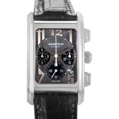 Audemars Piguet Edward Piguet Stainless Steel Rectangular Chronograph Wristwatch
