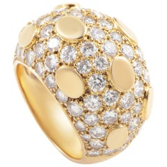Van Cleef & Arpels Diamond Gold Dome Ring