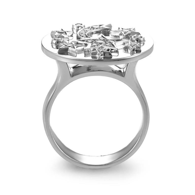 Chanel Comete Diamond Gold Ring 2