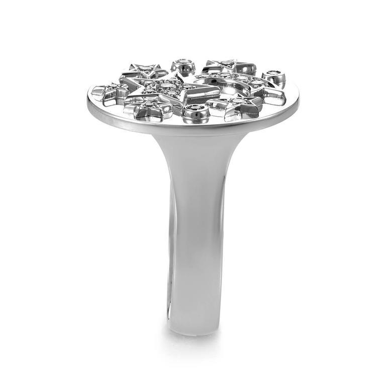Chanel Comete Diamond Gold Ring 3