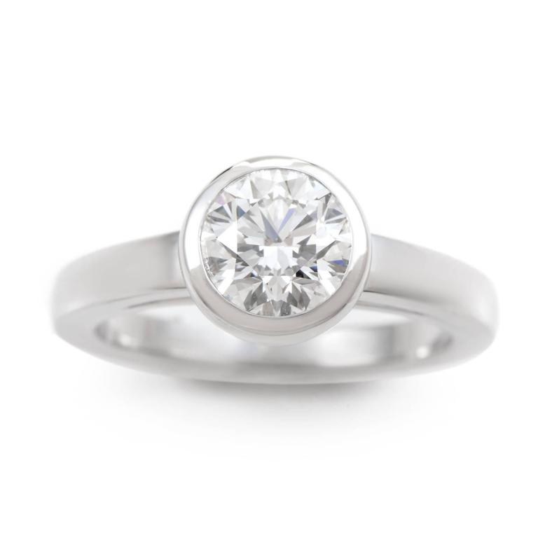 Cartier Platinum 1 05 ct Diamond Solitaire Engagement Ring at 1stdibs