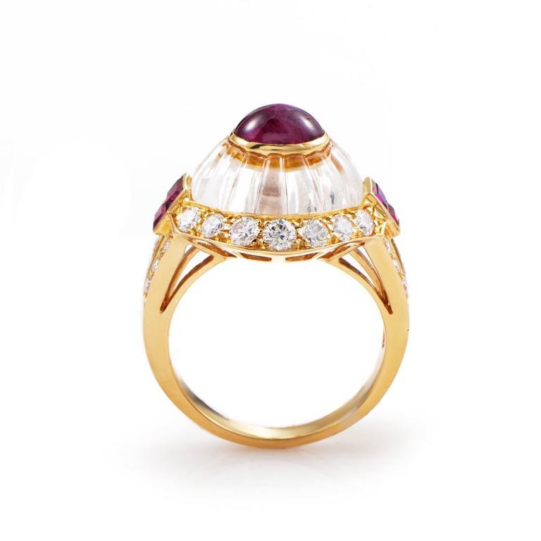 Boucheron Gemstone Diamond Gold Ring 2
