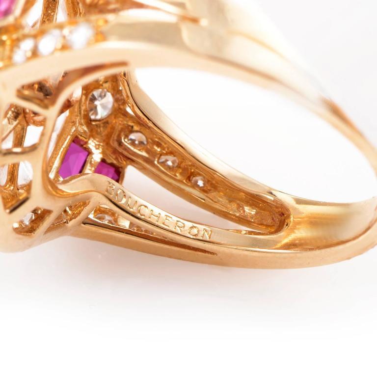 Boucheron Gemstone Diamond Gold Ring 4