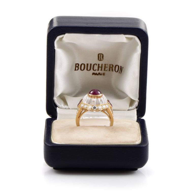 Boucheron Gemstone Diamond Gold Ring 5