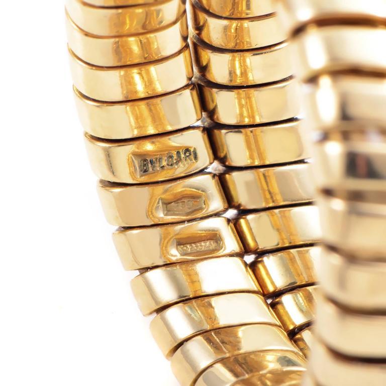 Women's Bulgari Tubogas Topaz Gold Ring For Sale