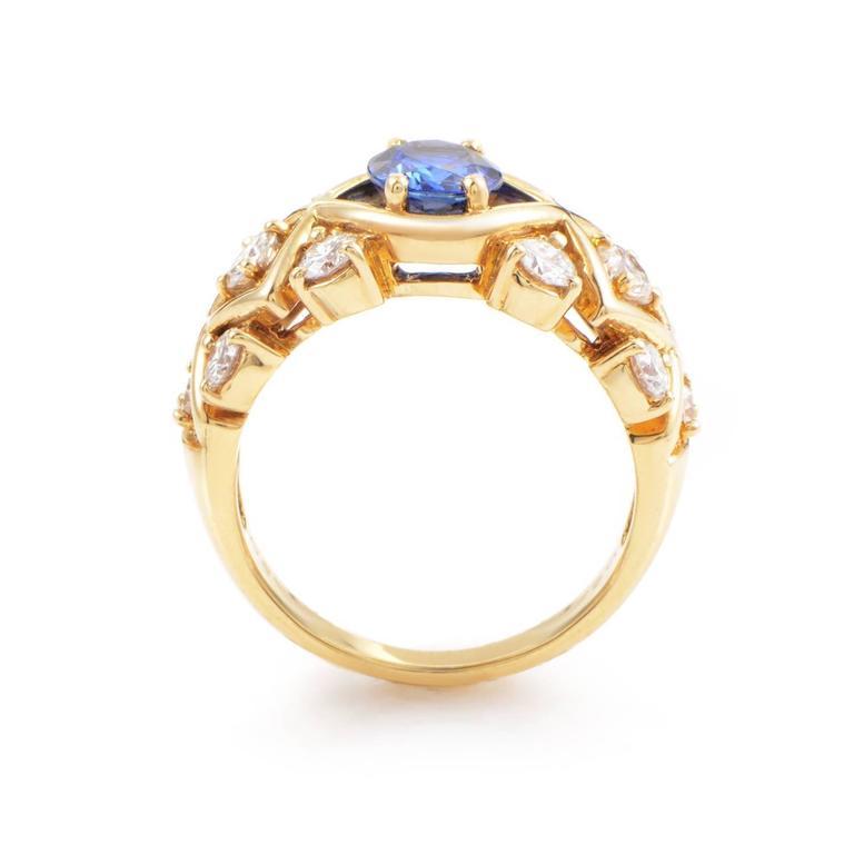 Dior Sapphire Diamond Gold Ring 2