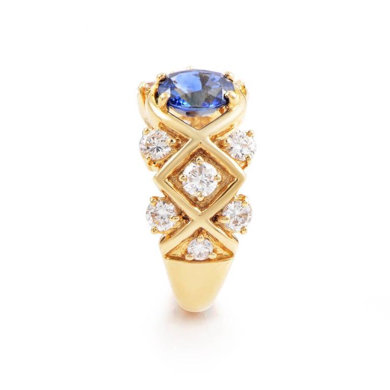 Dior Sapphire Diamond Gold Ring 3