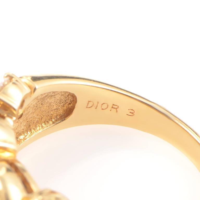 Dior Sapphire Diamond Gold Ring 4