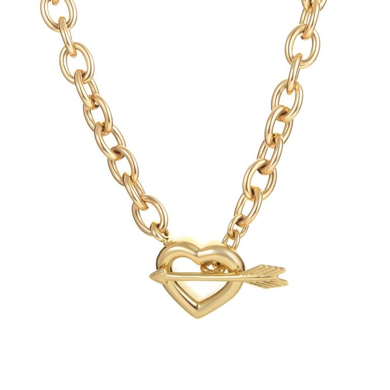 Tiffany & Co. Hearts and Arrow Gold Toggle Necklace 1
