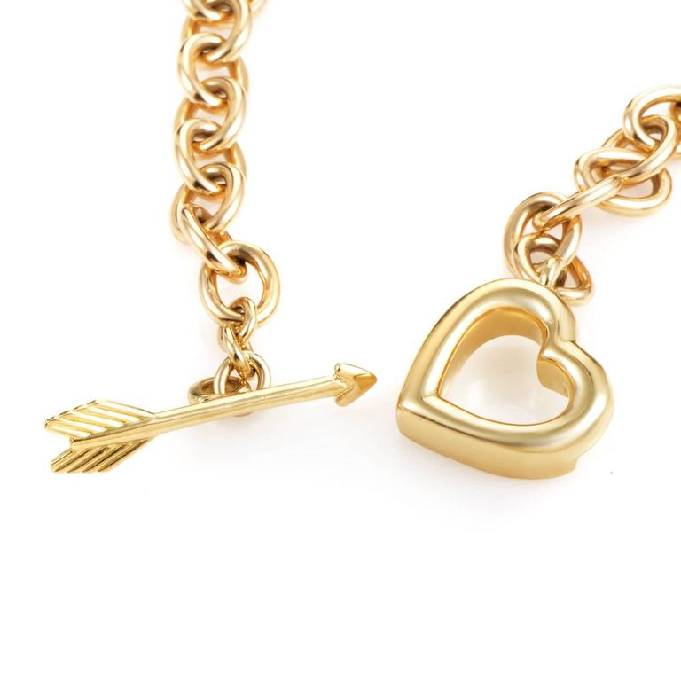Tiffany & Co. Hearts and Arrow Gold Toggle Necklace 3