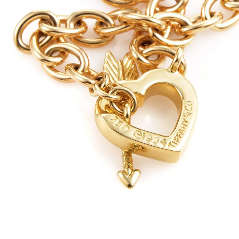 Tiffany & Co. Hearts and Arrow Gold Toggle Necklace 5