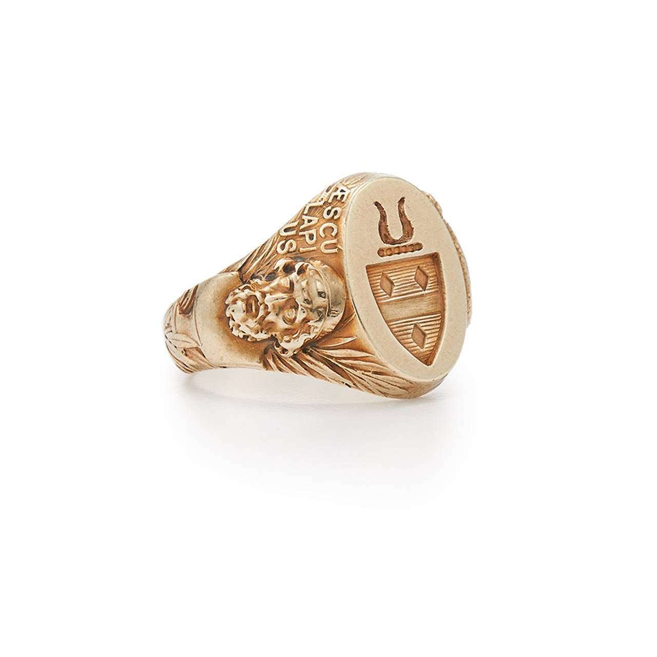 1900s Tiffany & Co. Engraved Gold Signet Ring 2
