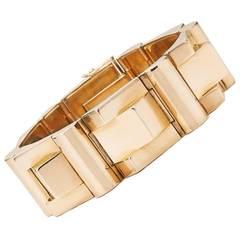 Retro French Rose Gold Tank Bracelet