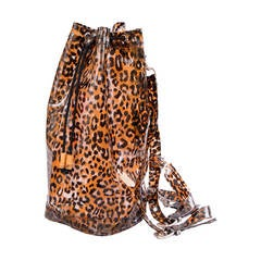 Leopard Printed Vegan Backpack
