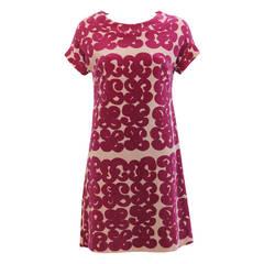 Marimekko Tarha Pattern Cotton Velour Dress