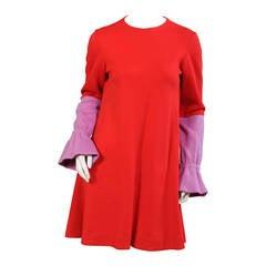 Rudi Gernreich for Harmon Knitwear Red & Orchid Dress