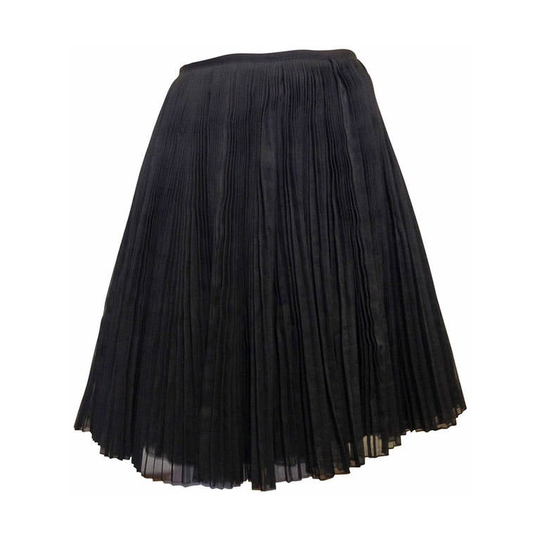 Kaufmanfranco Black Pleated Full Skirt 1