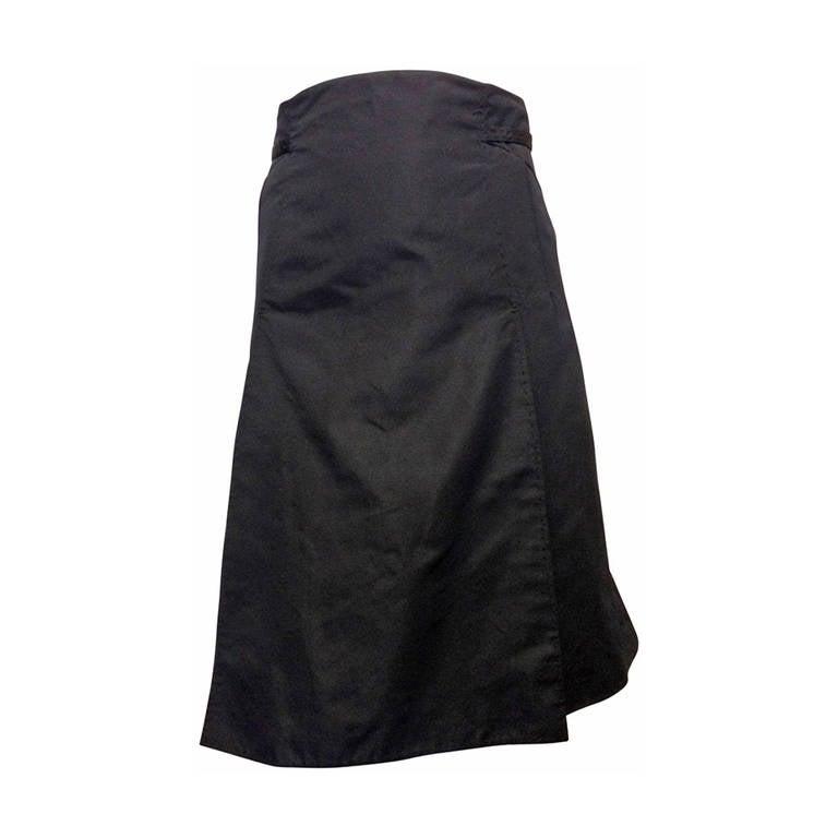 Chado Black A-line Skirt