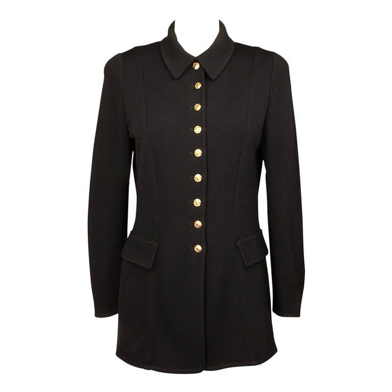 St. John Equestrian Style Knit Jacket For Sale