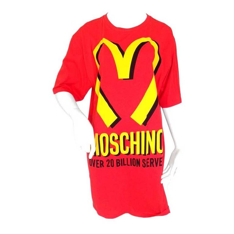 Last Season Brand New Moschino McDonalds T-Shirt at 1stdibs