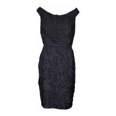 Donna Karan Crinkle Cloque Cocktail Dress