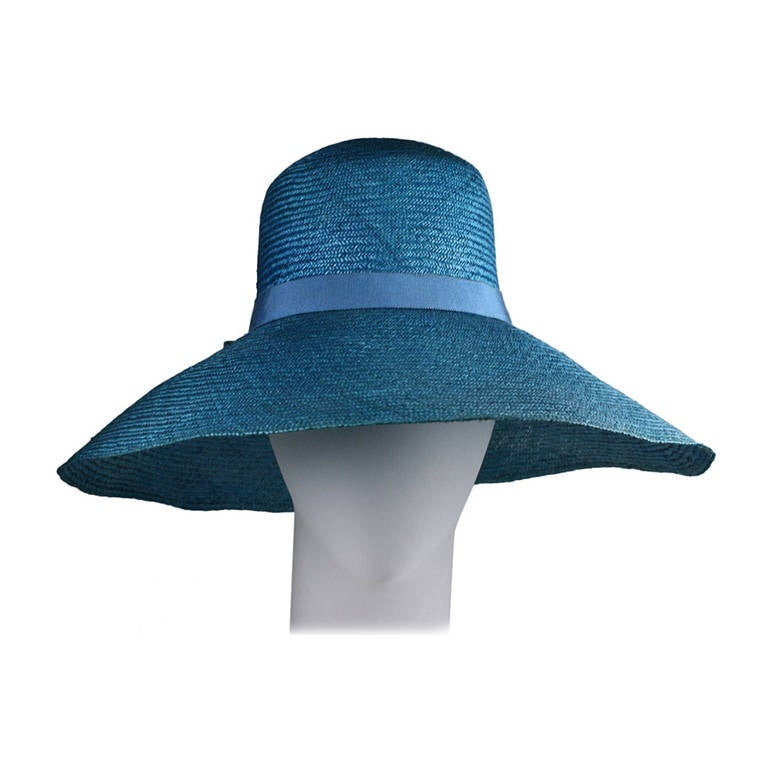Hubert de Givenchy Straw Hat For Sale