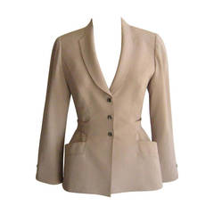 1980s Fine Wool Thierry Mugler Jacket (38 Fr)