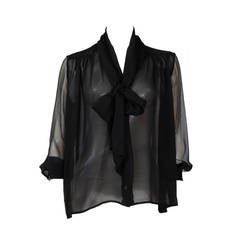 Yves Saint Laurent Silk Chiffon Blouse
