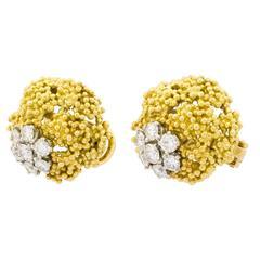 Boucheron Diamonds Caviar and White Gold Earrings