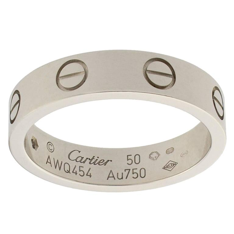 cartier white gold ring for sale at 1stdibs
