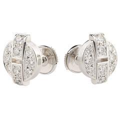 Cartier Himalia Diamonds White Gold Stud Earrings