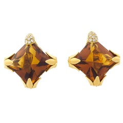 Carrera y Carrera Diamonds Citrines Earrings