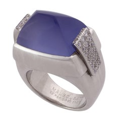 Mauboussin 18K White Gold Diamonds and Iolite Cocktail Ring