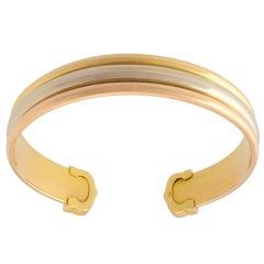 Gold Cartier Trinity Cuff Bracelet