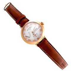 Eberhard & Co. 18K Yellow Gold Postillon Mechanical Wristwatch
